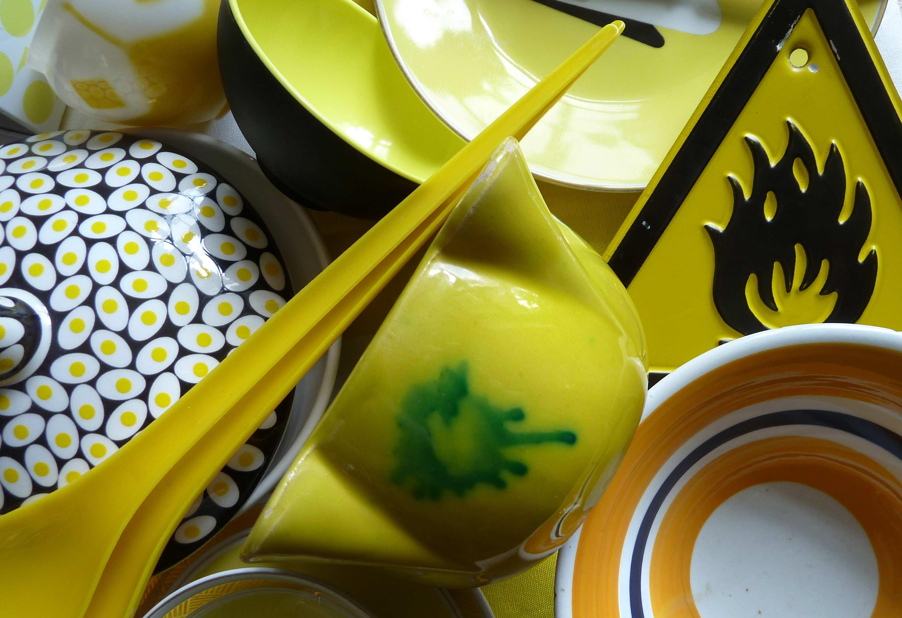 salatlöffel in Gelb