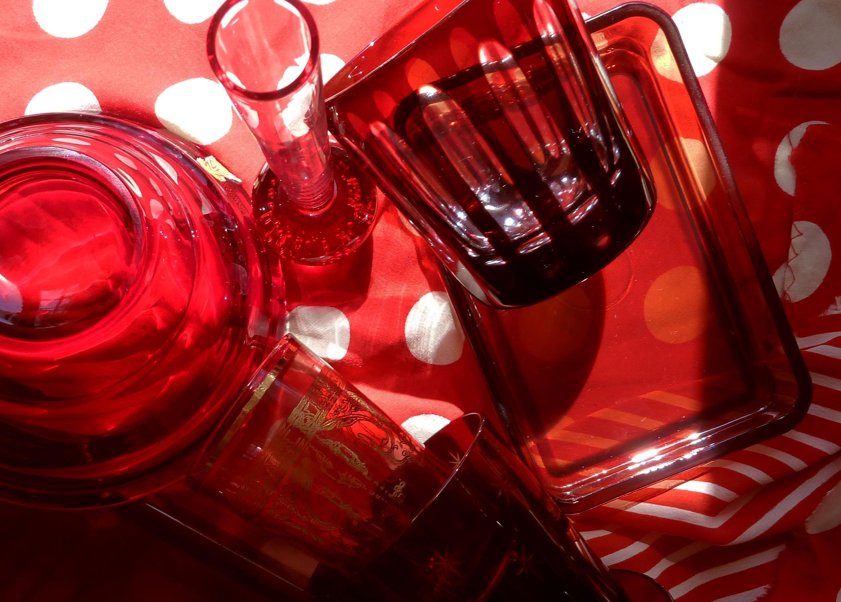 glas aus rotem Kristall