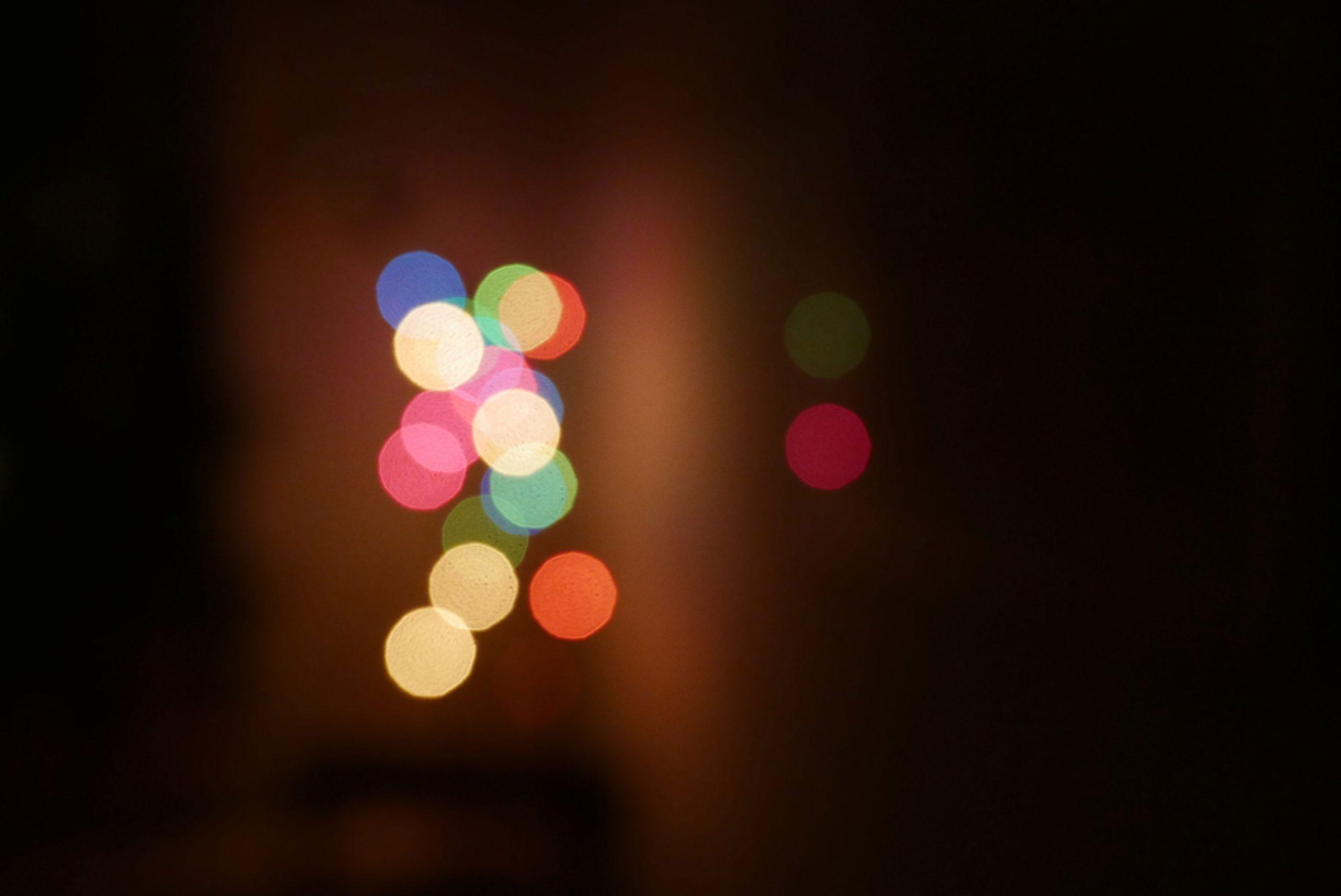 Lichtreflexe unscharf bunt
