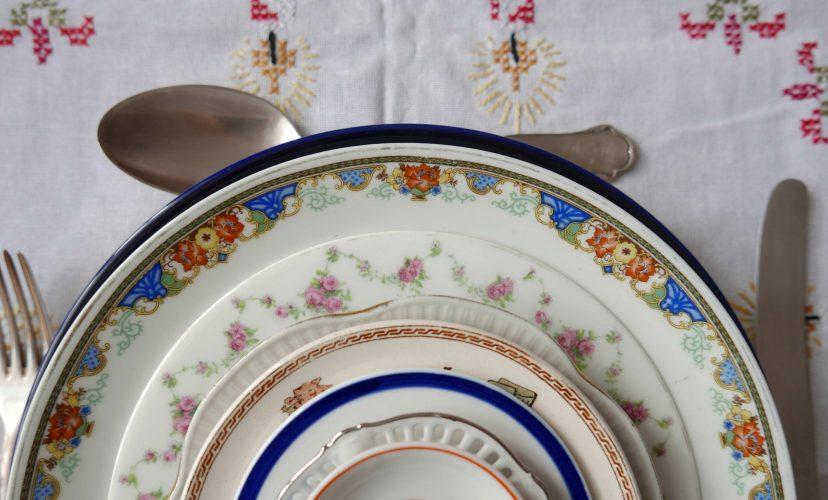 weihnachten Gedeck Tischdecke Teller