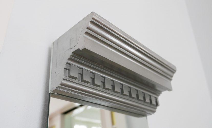 Vorher-nachher Spiegel mit Rahmen in Silber