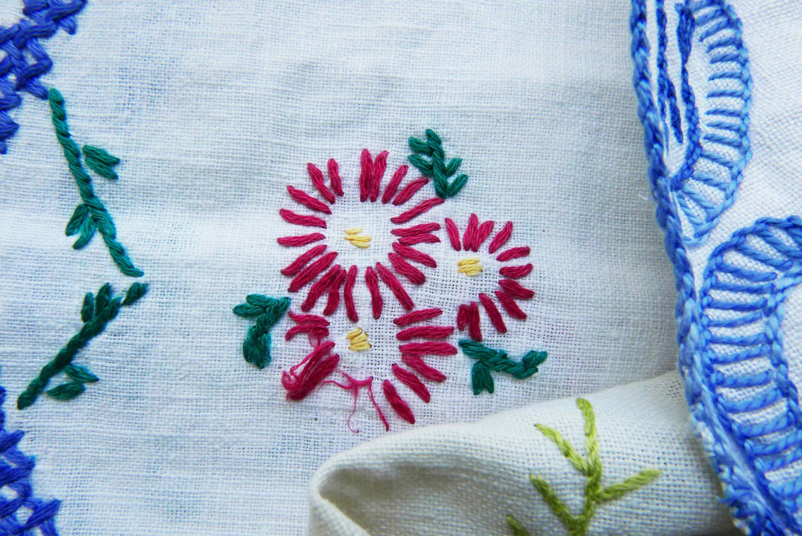 Coronavirus Fluch oder Chance geduldige Stickerei simple Blumen
