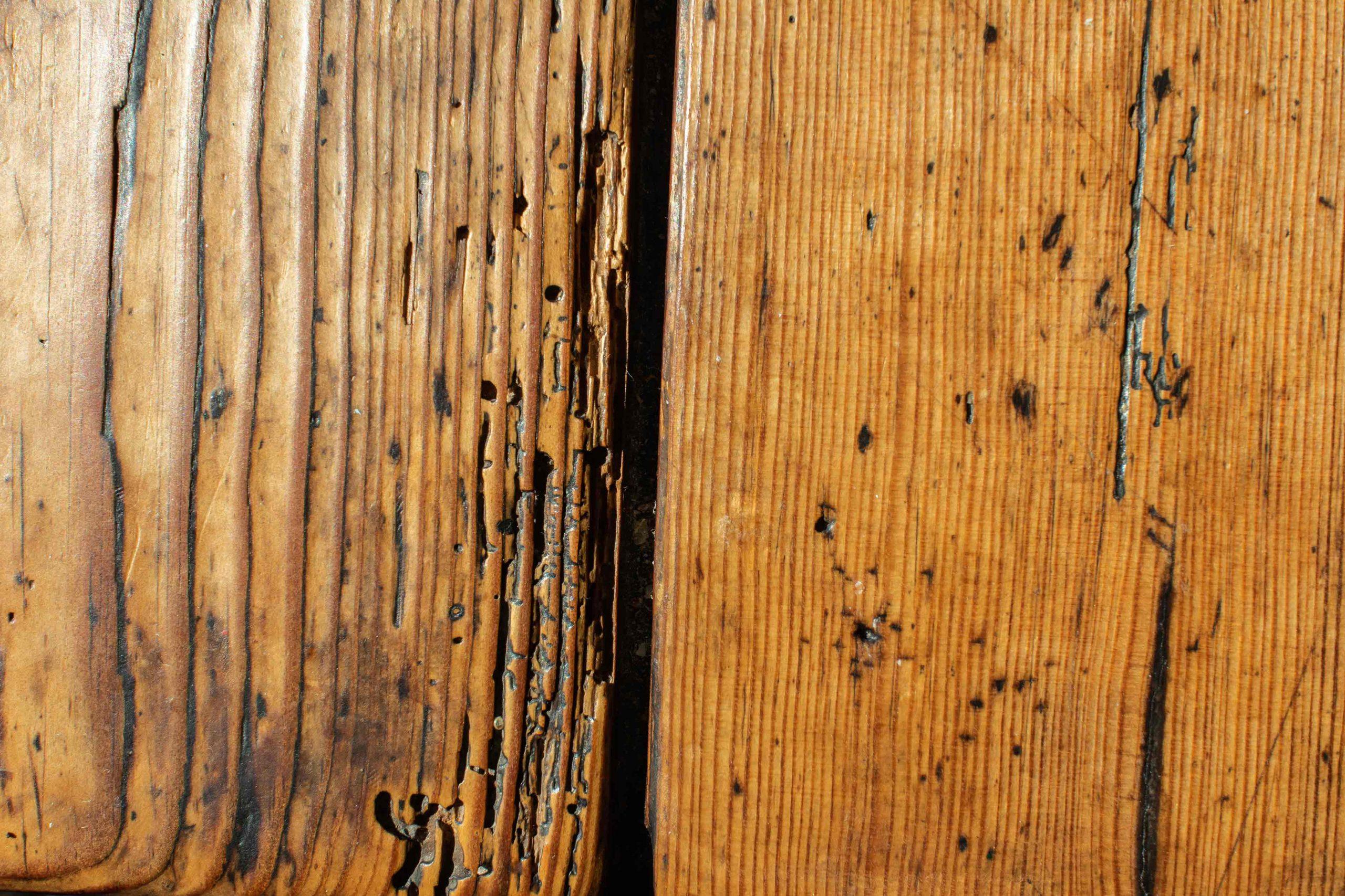 guter Tisch altes Holz Oberfläche Risse