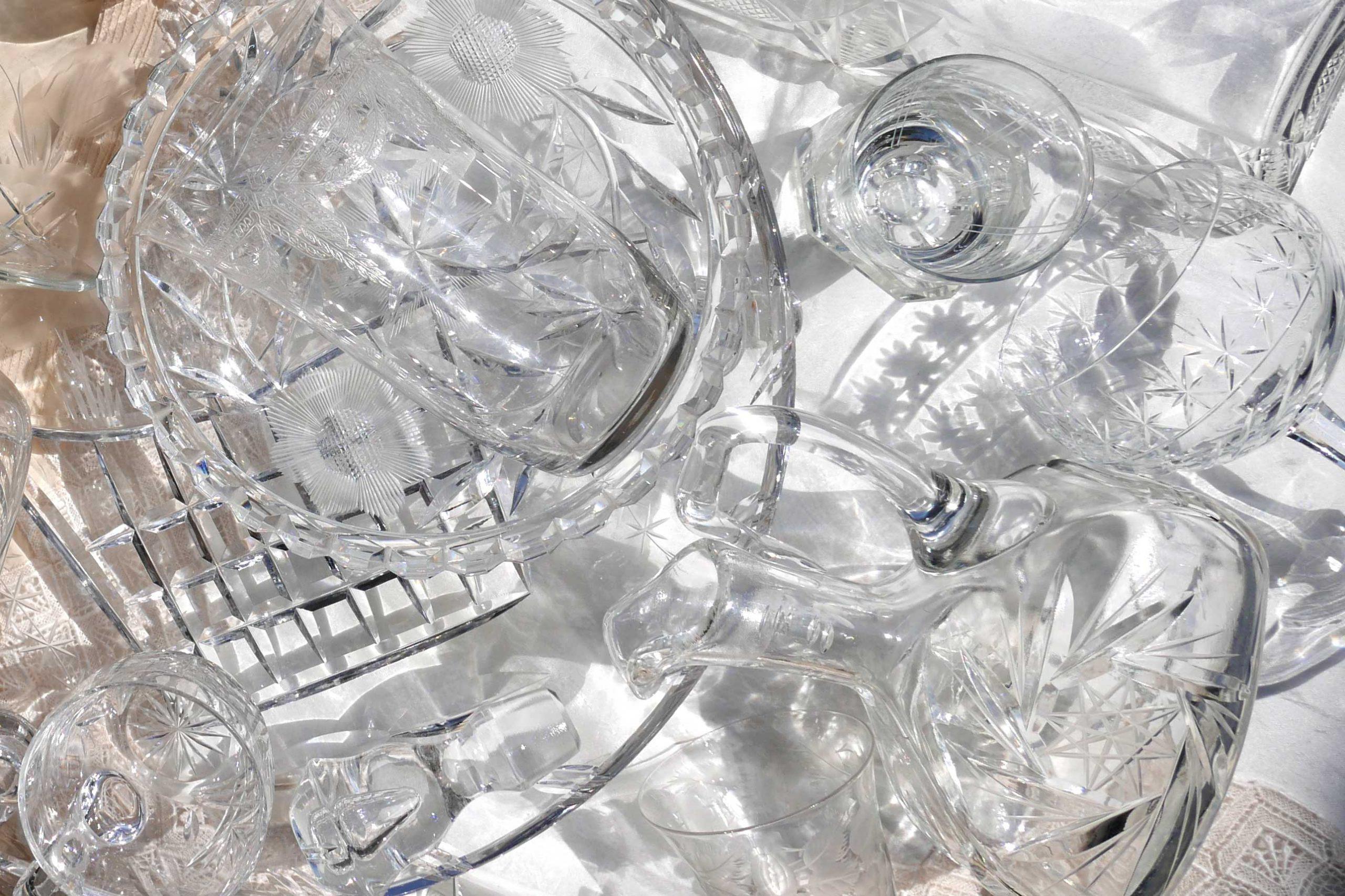 Kristallglas Klarheit der Schliffe und Facetten