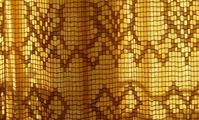 muster der sonnensieb gardine goldener hintergrund