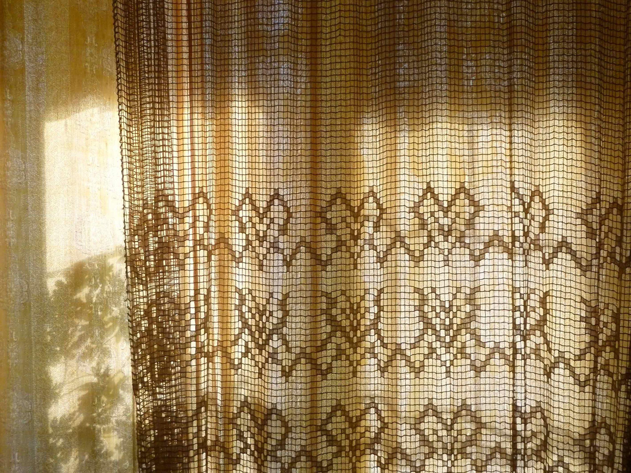 Textilgedanken: Stationen aus dem Leben eines Sonnensiebs Ansicht Gardine