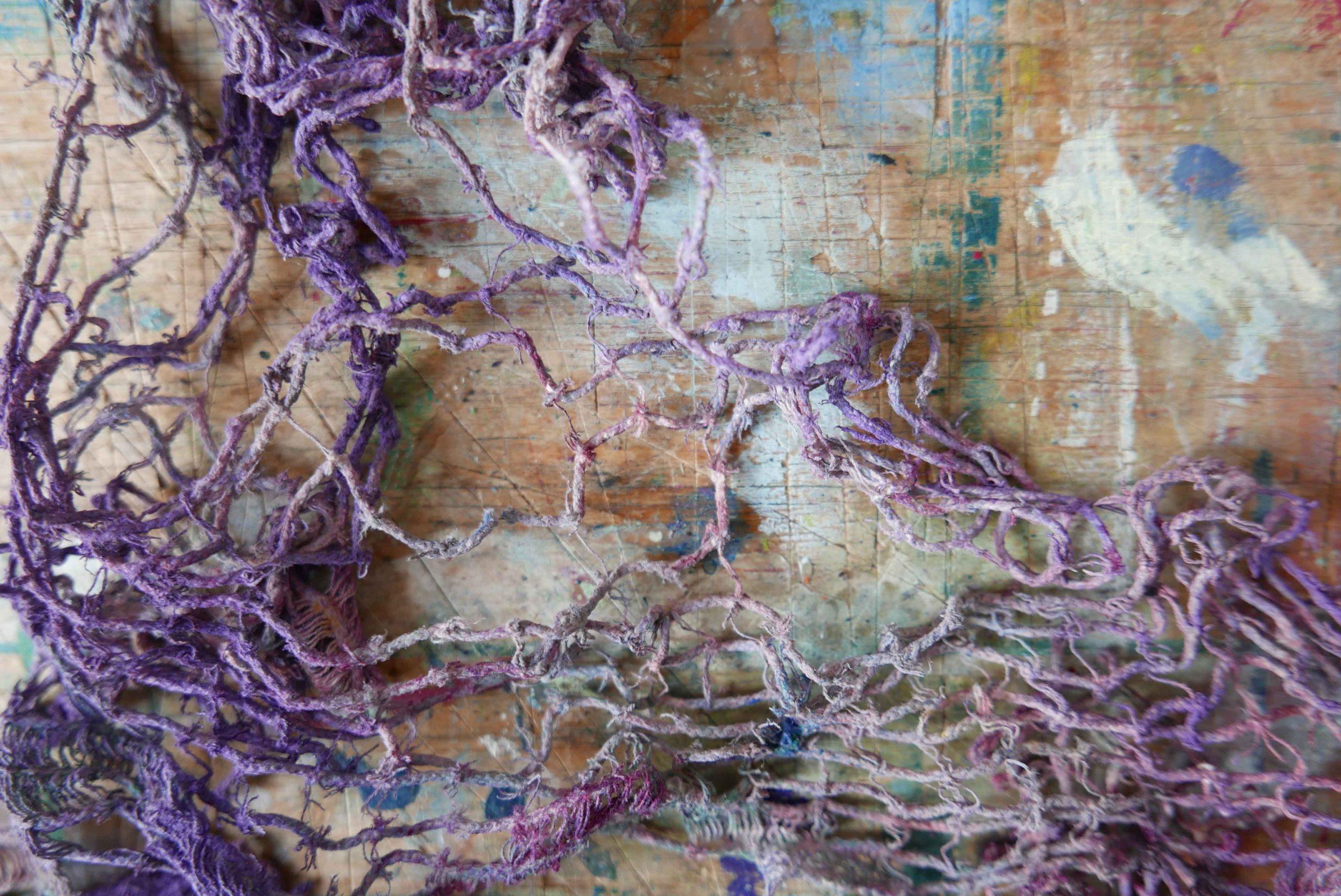Gardine mit Farbe Atelier Mallappen