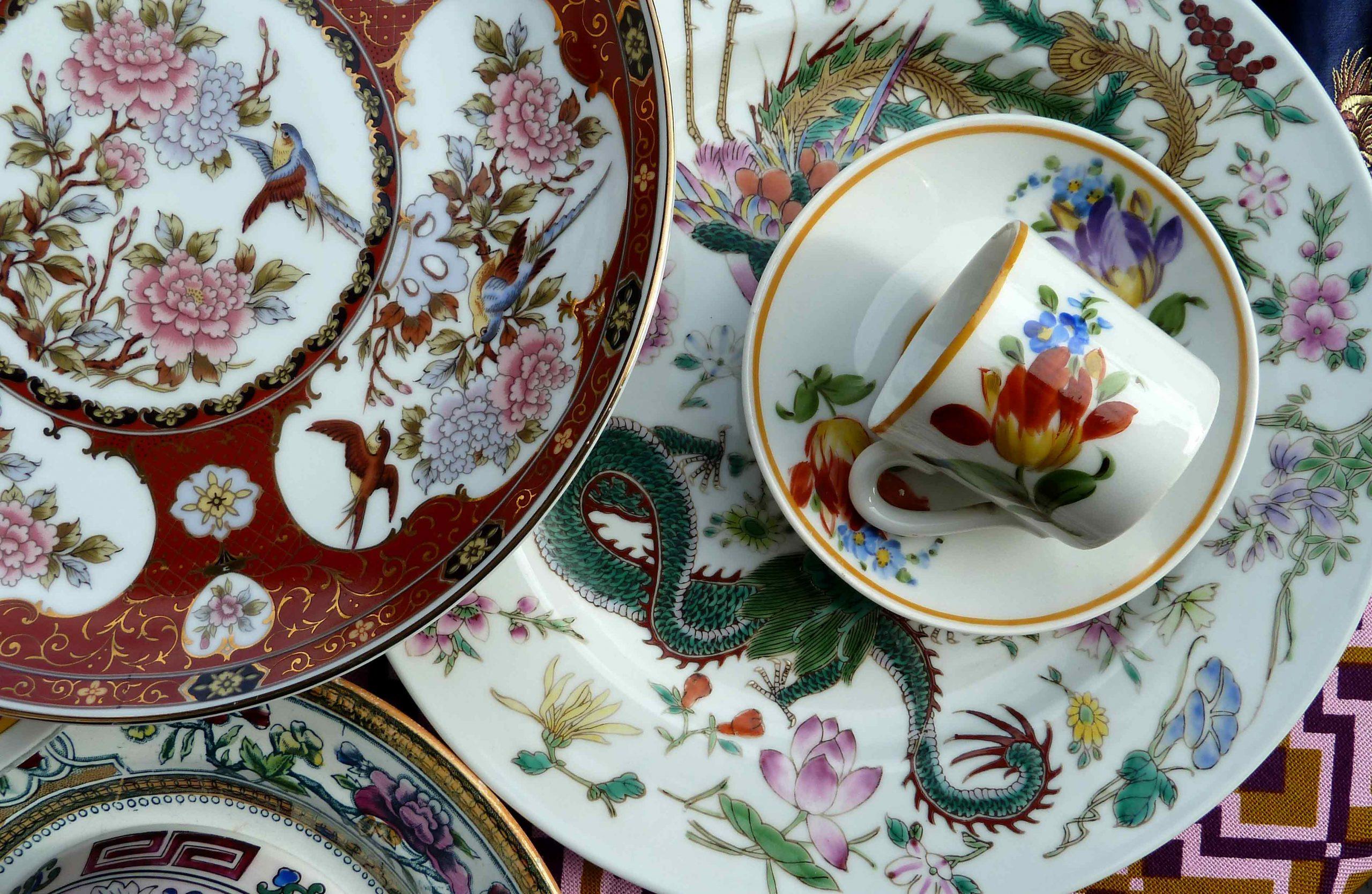 Fernost Mix und eine Mokkatasse Muster Ornamentik