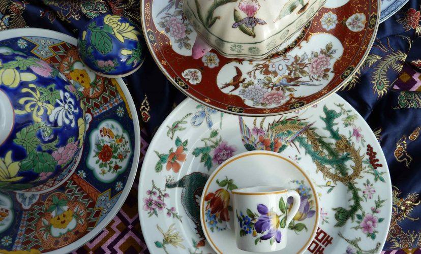 Fernost Mix: Höhe gewinnen und Einiges abwerfen asiatische Teller