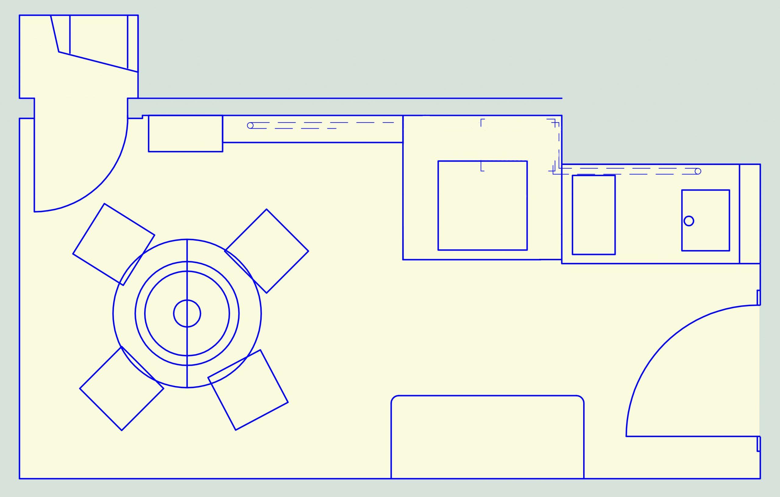 Küchenplanung Esstisch und Arbeitsbereich