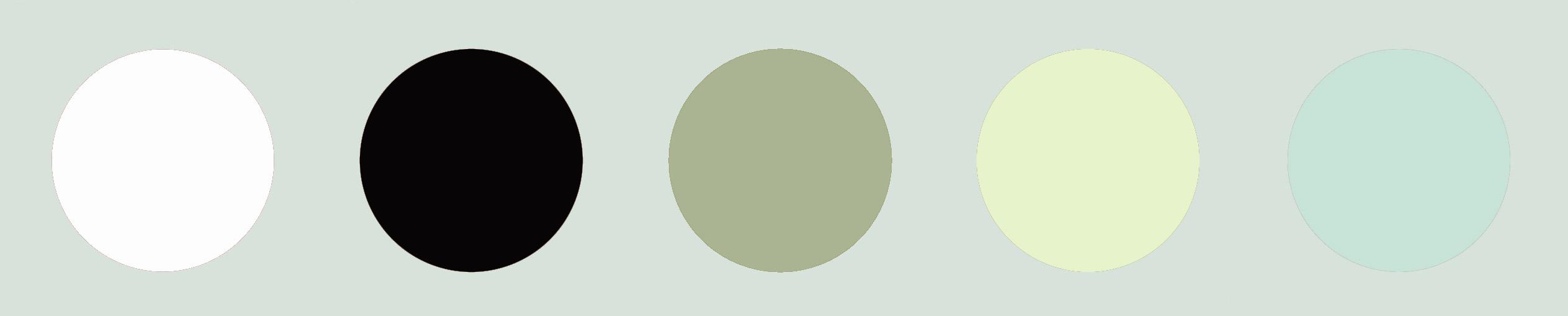 Farbproben Küchengestaltung Punkte in verschiedenen Farbtönen