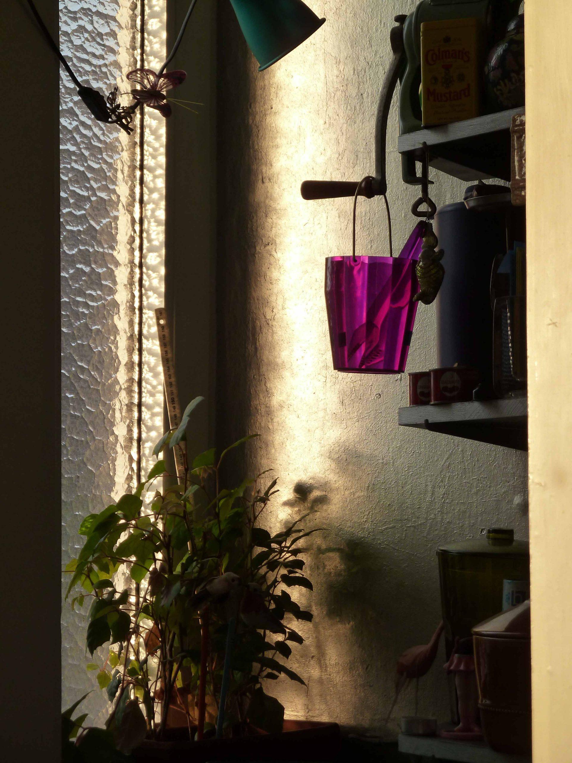 Abendstimmung das Fenster der Speisekammer im Abandlicht
