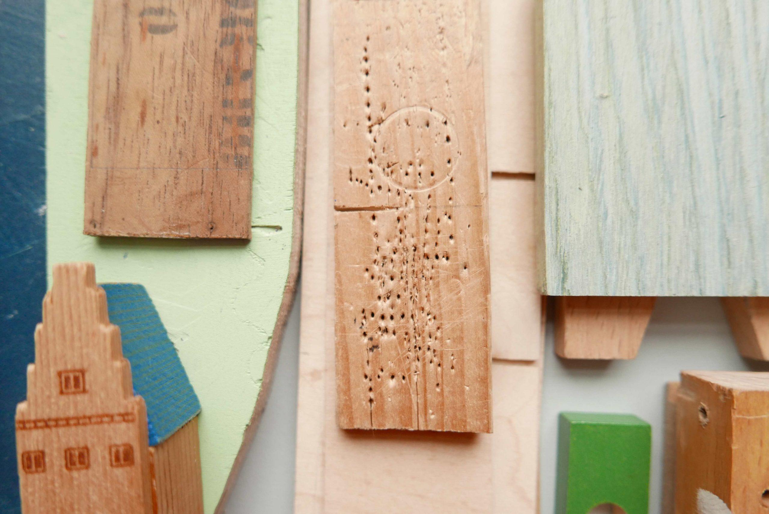 Holzklötzchen hilfreich beim Reparieren und Basteln