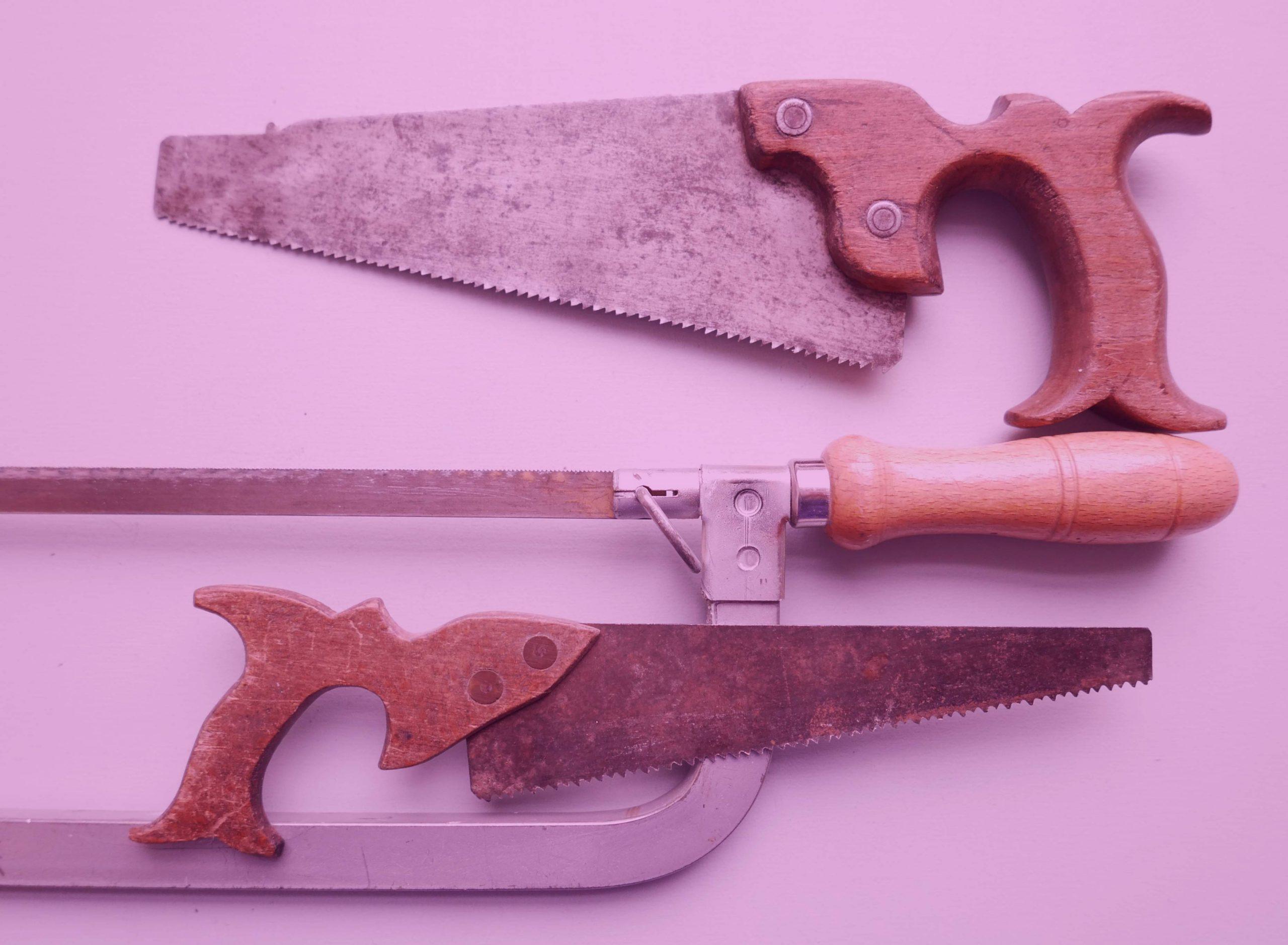 Umbauen und Reparieren Werkzeug Sägen kleine Holzsägen und Metallsäge