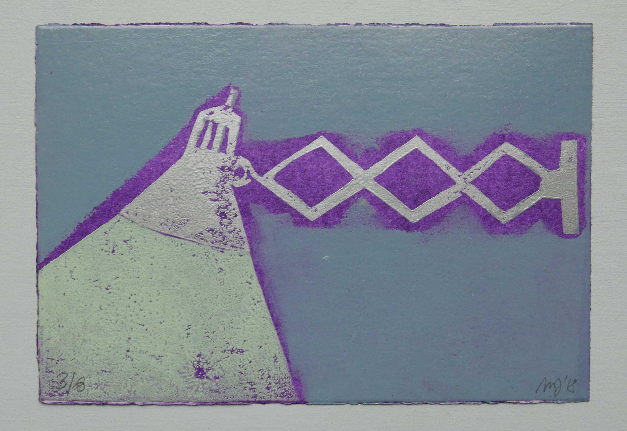 Grafik von Magda Jarzabek mit einer Scherenlampe