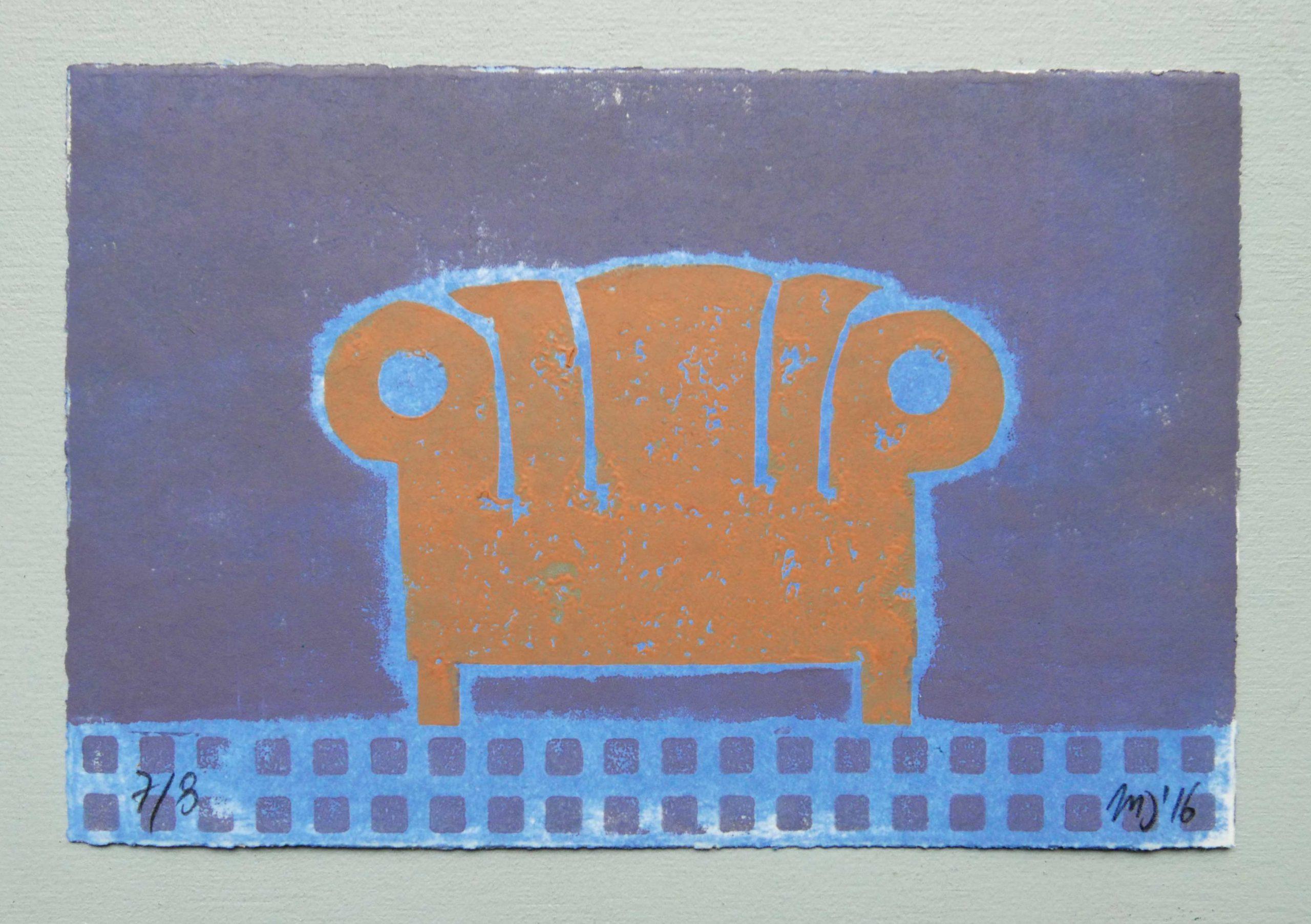 Grafik von Magda Jarzabek mit einem Clubsessel
