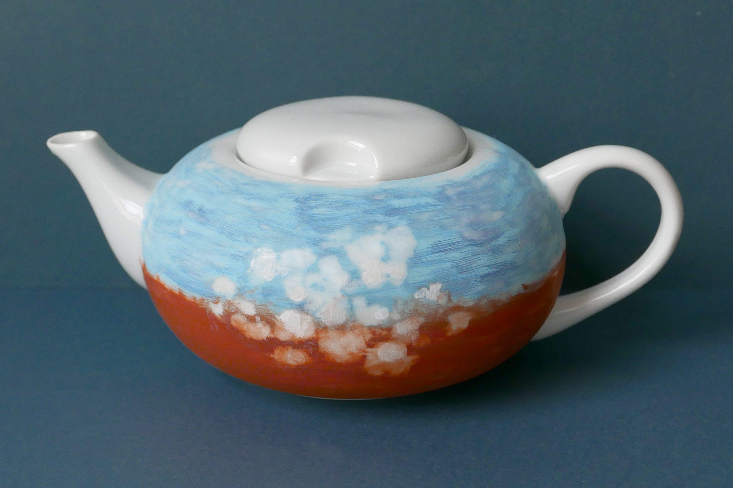 Die Victim Pot Nr.22 Teekanne in 'n Wulkje Gestaltung für Ostfriesische MIschung